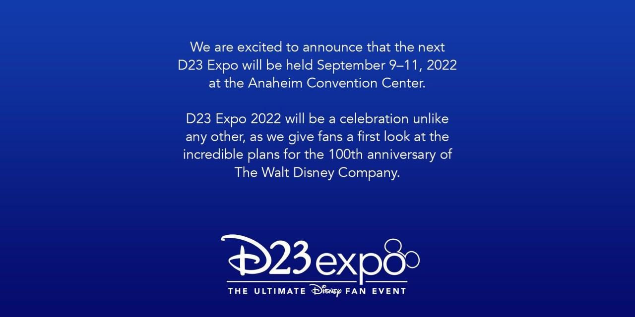 #D23Expo: Official date change for popular Disney fan event; Sept. 9–11, 2022