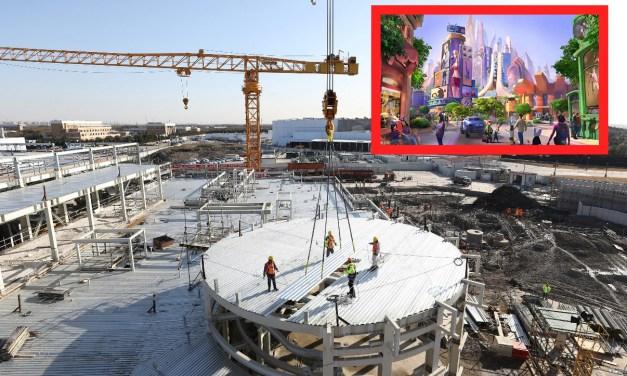 PICS: Latest peek at construction for upcoming Zootopia-themed land at Shanghai Disneyland
