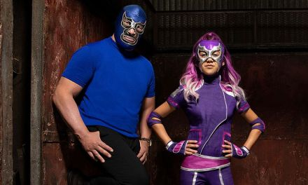 ULTRA VIOLET & BLUE DEMON luchador superhero comedy coming to Disney Channel