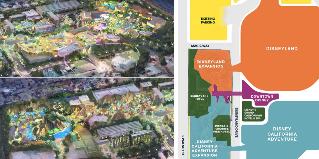 DisneylandForward: A third gate? Theme Park expansion? A closer look at the concept art!