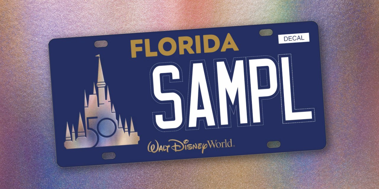 Walt Disney World unveils first-ever custom Florida state license plate collaboration