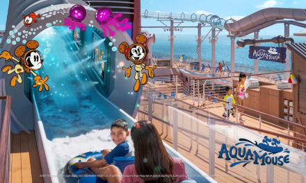 DISNEY WISH cruise ship unveils AquaMouse attraction plus other Upper Deck amenities