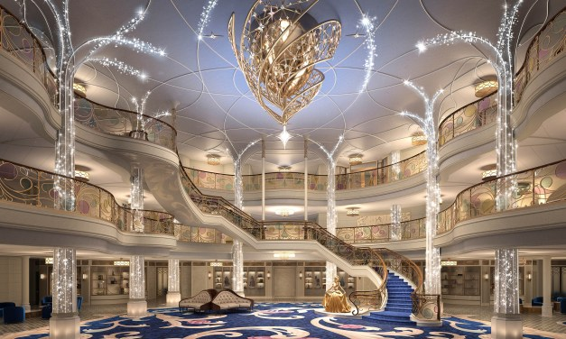 DISNEY WISH reveals enchanted Grand Hall lobby details, pushes maiden voyage to Summer 2022