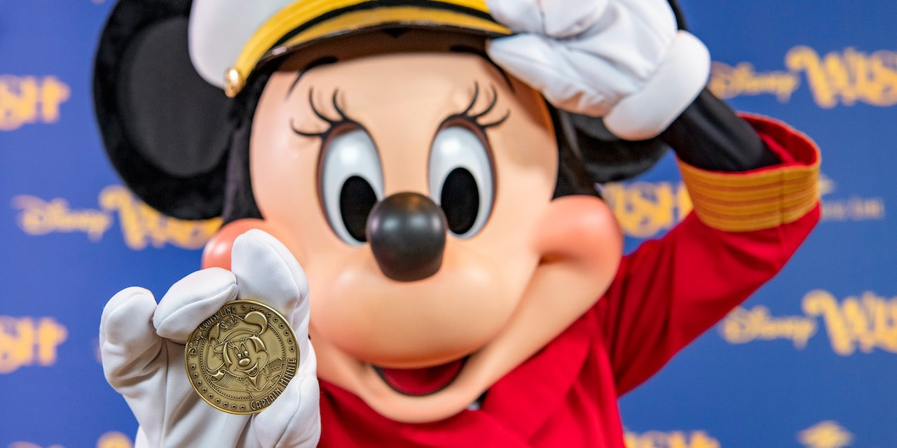 Captain Minnie Mouse commemorated in construction milestone for new Disney Wish ship