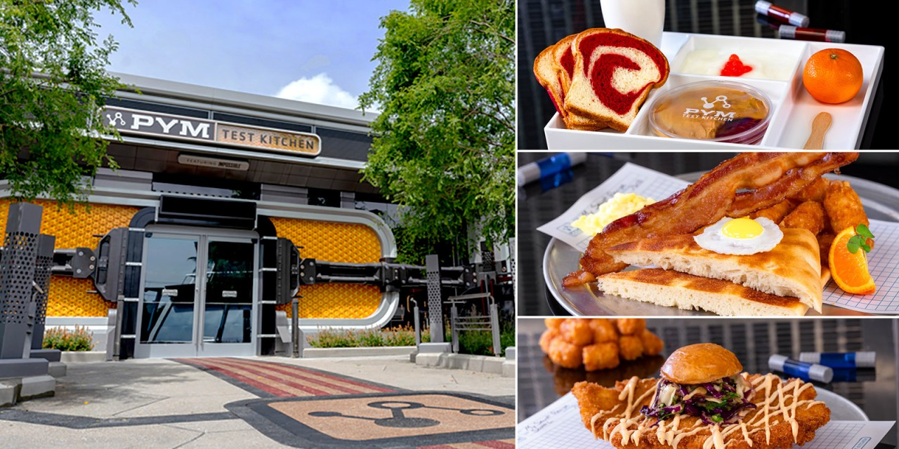 FIRST LOOK: PYM TEST KITCHEN restaurant menu pricing, pictures, and details at Avengers Campus