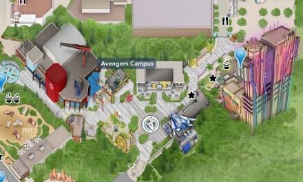 Disney unveils official AVENGERS CAMPUS map artwork