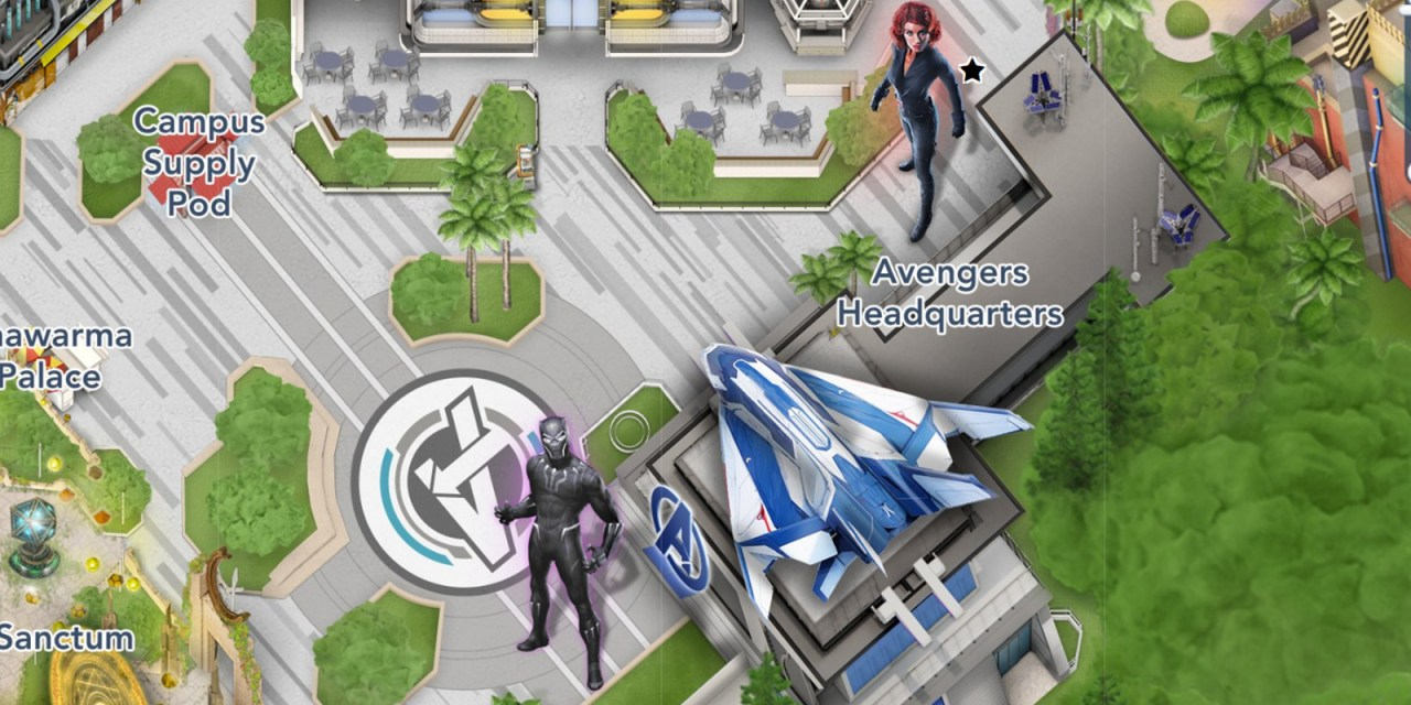 Black Panther and Black Widow meet and greet locations hinted at in updated Disney map for AVENGERS CAMPUS