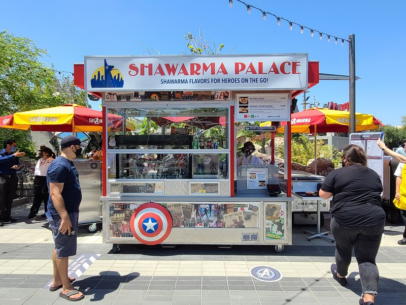 GUIDE / REVIEW: Get a taste of new SHAWARMA PALACE food cart at #AvengersCampus
