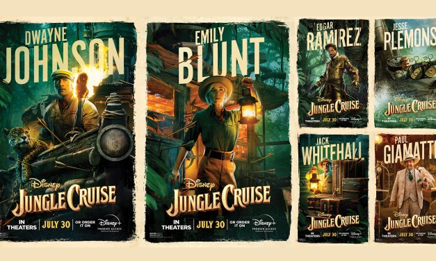 Emily Blunt and Dwayne Johnson rival trailers and new character posters released for JUNGLE CRUISE
