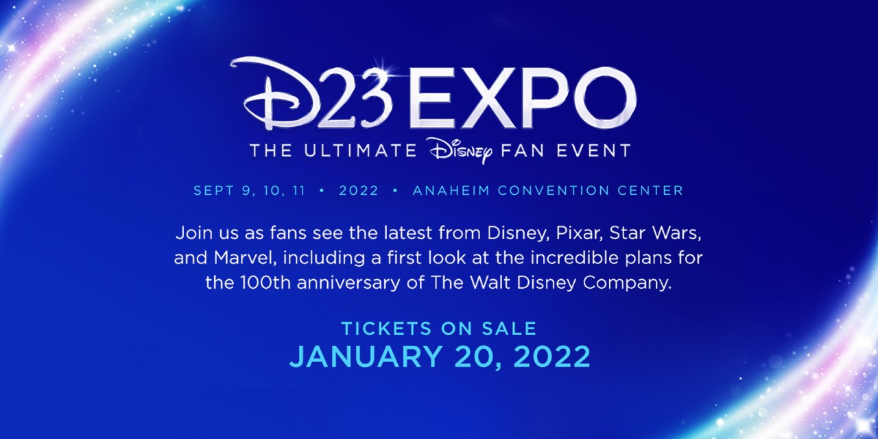 #D23Expo: Tickets on sale Jan. 20 for popular fan event at the Anaheim Convention Center, Sept. 9–11, 2022