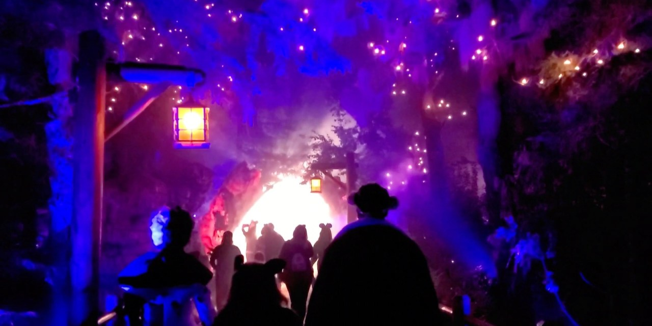 WATCH: Stroll through hauntingly ethereal VILLAIN'S GROVE at Oogie Boogie Bash 2021