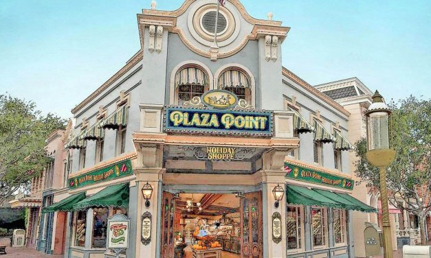 New Plaza Point Holiday Shop at Disneyland will morph with the season to offer the latest must-haves